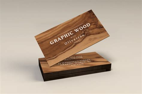card visit template psd wood 20 free psd business card templates download
