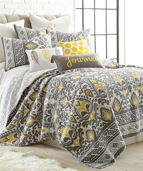 levtex home taryn gray yellow quilt set remodel