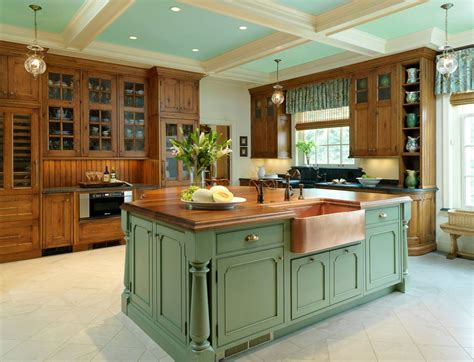 green kitchen islands invigorating ways to decorate with green kitchen cabinets 1416