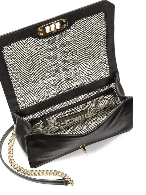 chain cross bag lyst minkoff crossbody bag with pearlescent