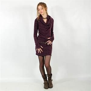 robe pull mi saison quotkaliquot violet With robe mi saison