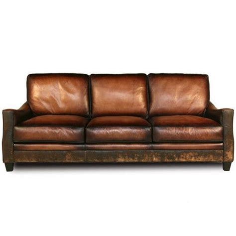 rustic brown leather sofa distressed handmade brown leather sofa brown leather