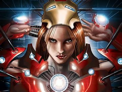 Iron Pepper Comics Marvel Potts Wallpapers Woman