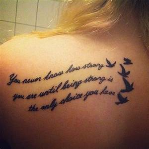 Quote tattoo for girls, back tattoo. #tattoos # ...