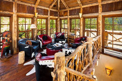 foxtail residence big sky log cabins  teton heritage builders