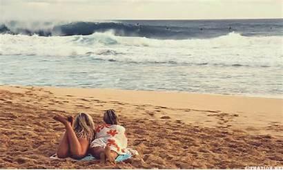 Mar Personas Playa Gifs Aman Surf Person