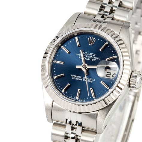 Ladies Rolex Datejust 69174 Blue