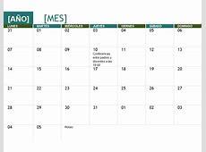 Calendario académico cualquier año