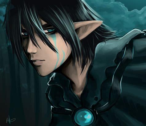 anime boy elf dark elf miiku