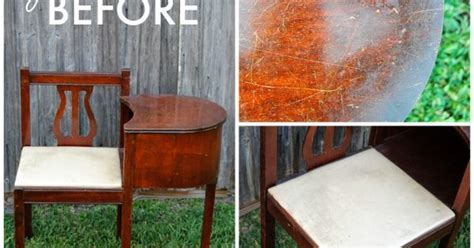 gossip bench telephone table makeover hometalk