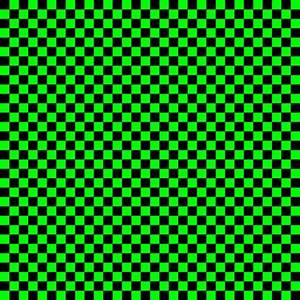 Quarter Inch Black and Lime Green Checkered fabric