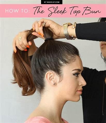 Hair Bun Messy Hairstyles Sleek Hairstyle Makeup