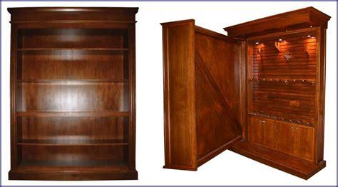 hidden wood gun cabinet hidden in plain sight custom gun storage furniture 1