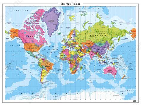 wereldkaart poster ikea wereldkaart staatkundig 101 gelamineerd kaarten en