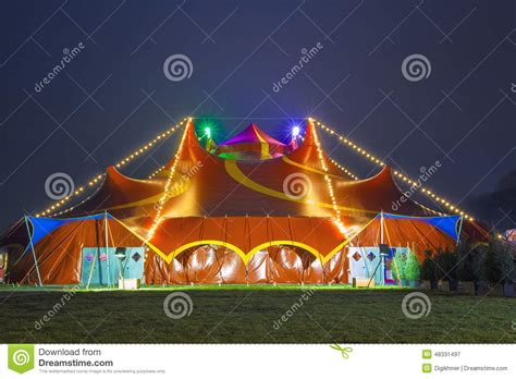 colorful circus tent stock photo image