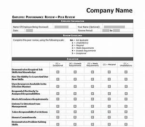 employee evaluation template excel images daycare crafts With hr performance review template