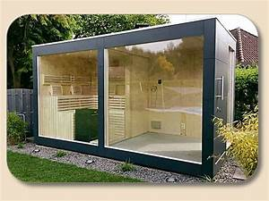 Saunahaus Selber Bauen : saunahaus design mit glasfront sauna pinterest ba o turco terraza jardin und ba os ~ Orissabook.com Haus und Dekorationen