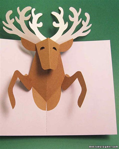 Pop Up by Reindeer Pop Up Card Martha Stewart