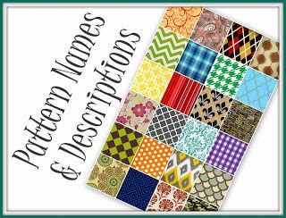 Glossary of Design Terminology ~ Choosing a Pattern