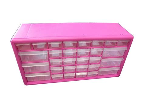 The Original Pink Box 30 Drawer Parts Bin, Wall Mountable Anterior Drawer Test Ankle Positive Sign Dresser Drawers Keep Sliding Open Lock Joint Router Table Can I Paint Metal Pulls How To Fix A That Won T Stay Closed Inserts For Jewellery Closetmaid 2815 Shelftrack 4 Kit Slides Undermount Soft Close