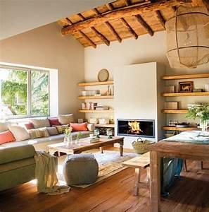 Idee Per Arredare Casa E Un Open Space Con Camino Moderno