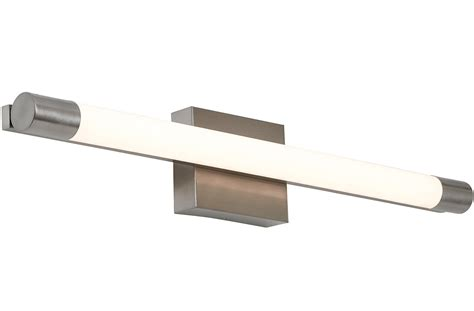 new slim line modern frosted bathroom vanity light fixture