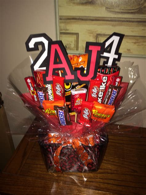 basketball player treat football gift baskets