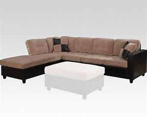 camel finish reversible sectional sofa milano by acme ac51230 With milano reversible sectional sofa
