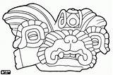 Zapotec Coloring Pages Culture Mixtec Columbian Pre Ornament Civilization Fragment Vessel Ceramic Oncoloring sketch template