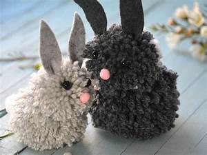 Comment Faire Des Pompons Avec Un Appareil : diy des lapins avec des pompons ~ Zukunftsfamilie.com Idées de Décoration