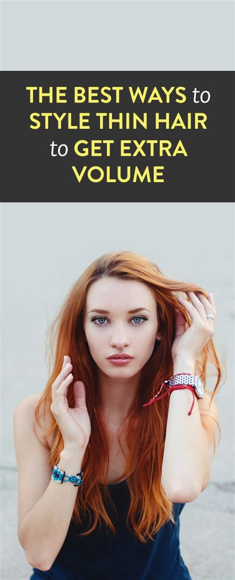 ways to style thin hair how to style thin hair give yourself volume 1334