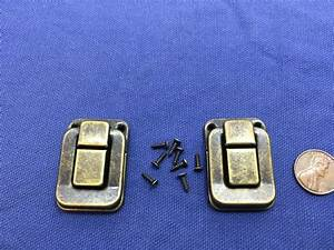 2 Pieces Vintage Style Small Box Hardware Lock Latch Box