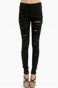 Destroyed Skinny Jeans - $16.00 | Tobi