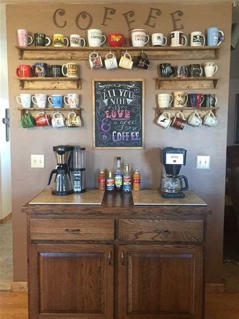coffee  tea station   smartest idea   kitchen