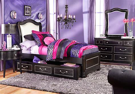sofia vergara bedroom collection sofia vergara black 5 pc panel bedroom