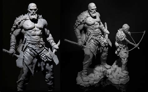 God Of War Check Out Early Character Design For Kratos