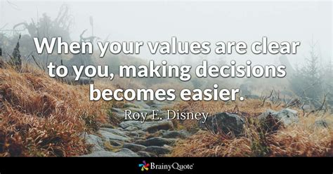 values  clear   making decisions