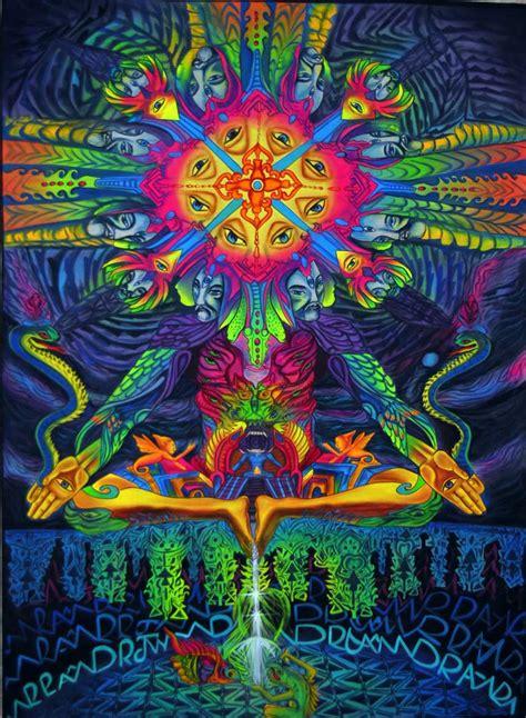 blacklight painting meditating alien world crafts