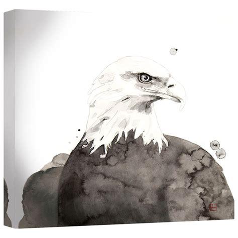 watercolor eagle canvas wall art