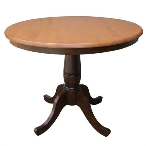 36 inch round kitchen table 36 quot round dining table in cinnamon espresso k58 36rt