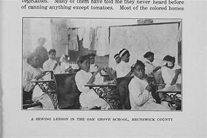 A Sewing Lesson in the Oak Grove School, Brunswick County ...