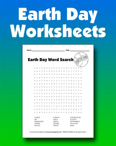 earth day worksheets primarygames play   games