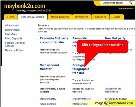 Maybank Telegraphic Transfer Form Download by Tutorial Cara Buat Bayaran Ke Luar Negara Dengan