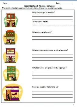 my neighborhood worksheets for grade 2 3 by rituparna
