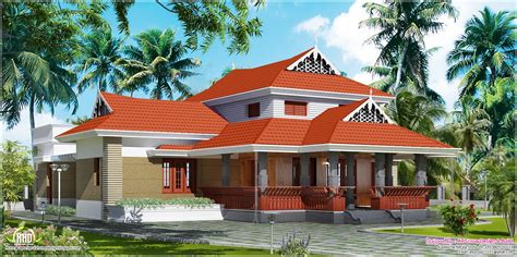 Traditional house in 1800 square feet - Kerala home design