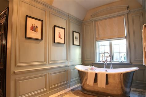 Chair Rail Height  Bathtub Nook With Decorative Wall