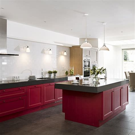 red kitchen colour ideas home trends housetohomecouk