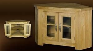 Meuble Angle Bois : meuble tv d 39 angle en bois massif ~ Edinachiropracticcenter.com Idées de Décoration