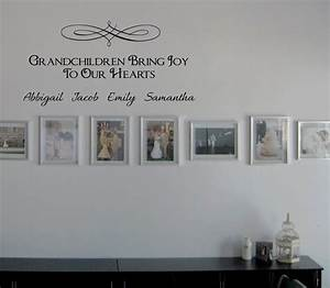 Grandchildren Bring Joy Names Wall Decals - Trading Phrases