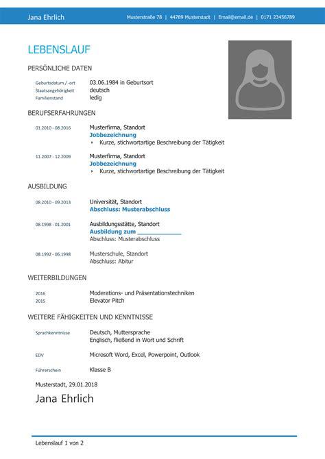 Vorlage Lebenslauf Bewerbung by Lebenslauf Muster 38 Kostenlose Word Vorlagen Als